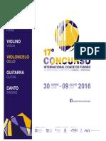 Concurso Internacional 2016 Regulamento Pt