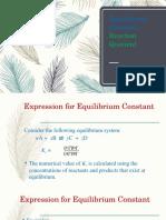 Equilibrium Constant Presentation