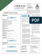 Boletín Oficial de la República Argentina, Número 33.322. 23 de febrero de 2016