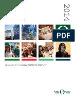 EcologyOttawa Annual Report 2014