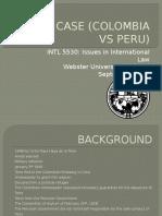 Asylum Case (Colombia vs Peru)