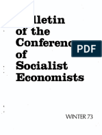 Conference of socialist economists Bulletin Winter_73