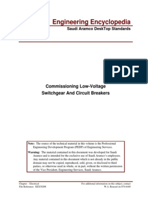 Engineering Encyclopedia: Commissioning Low-Voltage Switchgear And