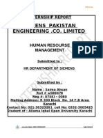 Saima Ahsan Final Report of Mba Hrm