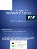 Chromatographic Techniques of Anaylsis