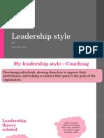 My Leadership Styles