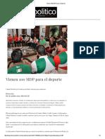 20-02-16 Vienen 100 MDP para el deporte - Dossier Político