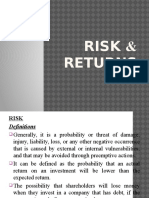 Risk and Return Ppt
