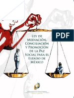 Ley de Mediación, Conciliación y Promoción de La Paz Social Para El Edo. de Méx.