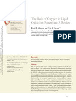 The Role of Oxygen in Lipid Oxidation Reactions- A Review