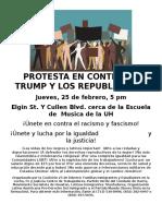 February 25 2016 Flyer Spanish
