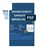 Automating Procedures