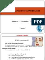 Dermofarmacie Si Cosmetologie Curs 7