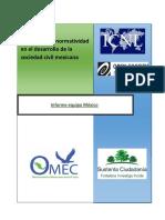 Impacto de La Normatividad en El Desarrollo de La Sociedad Civil Mexicana 2015