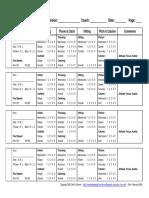 Baseball Evaluation Form