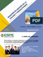 Gestión de La Calidad y Productividad Nov 2014