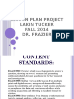 lesson plan project presentation