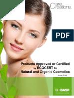Ecocert BASF Products List EMC BCS 062014 Final