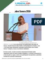 18-02-16 Concluye Cumbre Sonora 2016 - El Imparcial