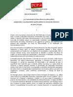 Determina a Manutenção Do Novo Banco Na Esfera Pública (...)