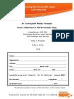 NDP February 19 Fundraiser Form