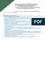AA3 - Ev1 Cuestionario Identificar Técnicas de Inteligencia de Negocios