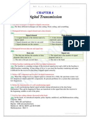 Chapter 4_Digital Transmission_Exercise Question With