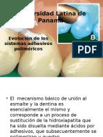 Evolución de Los Sistemas Adhesivos Poliméricos- 2015