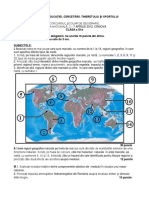 2012 Geografie Nationala Clasa a XI-A Proba Teoretica Subiecte