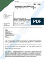 ABNT NBR 14561_2000 (Veículos Para Atendimento a Emergências Médicas e Resgate)