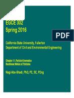 EGCE 302-(2) Chapter 11 Particle Kinematics-C-2