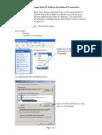 Setting Alternate IP Address for Computer