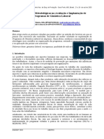 Considerações Metodológicas na Avaliação e Implantação de Programas de Ginástica Laboral