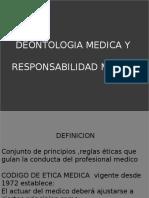 Deontologia Medica y Responsabilidad