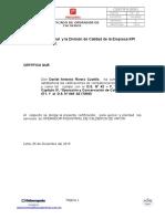 Certificado de Operador de Calderos