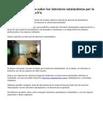 Excepcional servicio sobre los interiores minimalistas por la zona de Castilla y León