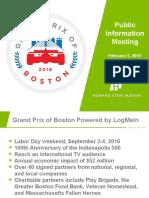 Grand Prix of Boston Presentation 2/18/16