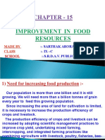 15 Improvement in Food Resources
