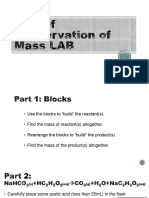 law of conservation of mass intro lab
