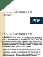 Nic 33 Ganancias Por Accion