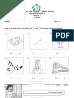 Year 2 Exam Paper