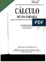 Calculo de Una Variable - Pita