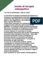 Corso Biennale Di Terapia Manuale Osteopatica