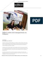 19/02/16 Habrá centro de transparencia en Peñasco - Dossier Político