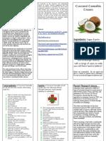 Coconut Cannabis Cream Brochure