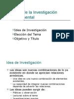 6 Inicio de La Investigación Idea y Elección Del Tema