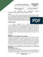 Modelo de Resolucion Directoral