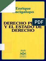 Bacigalupo Enrique Derecho Penal y El Estado de Derecho