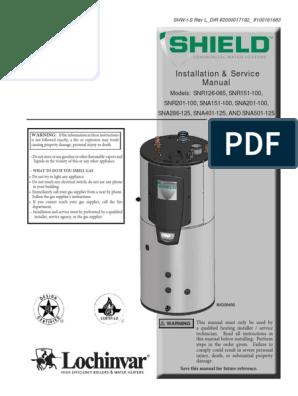 Condensing Water Heater Manual | Hvac | Water Heating