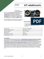 HC-SR04 Ultraschallmodul Beschreibung 3
